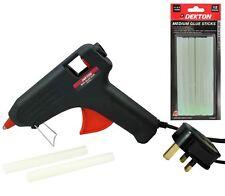 Dekton Hot Melt 40w Glue Gun With 14 Adhesive Sticks Hobby Craft Wood Plastic