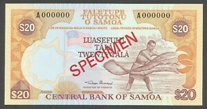 Samoa, 20 Tala, ND(1985), P28s, Specimen, Ser.# A000000, Gem Unc