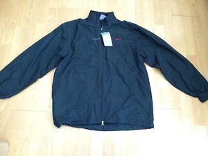 "BNWT NIKE Softshell Mens Black Zipper Lined Jacket @ Size 40 - 42"" Chest NEW"