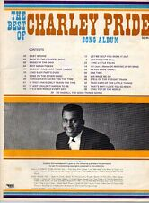 Charley Pride Best of Songbook 1970 song book COUNTRY MUSIC