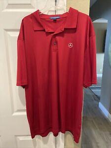 XXL Mercedes Benz Polo Shirt Red Port Authority Size 2xl