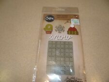 SIZZIX TIM HOLTZ SIDE ORDER DIE AND EMBOSSING SET SNOW WINTER 5PC.