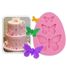 Hot Silicone Lace Butterfly Fondant Sugar Craft Mould Cake Decorating Mold Tool