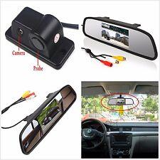 "4.3""Car Reverse Rear View Mirror Display Monitor Car Backup Camera Radar Sensor"