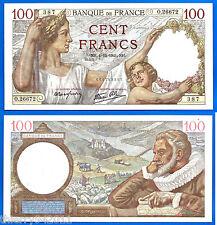 France 100 Francs 1941 4 December Serie O Sully Europe Frcs Frcs Free Ship Wrld