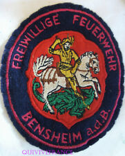 IN10196 - PATCH ECUSSON SAPEURS POMPIERS VOLONTAIRES DE BENSHEIM