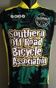Adenosina SORBA Bicycle IMBA Small S Sleeveless Green Yellow  Cycling Jersey