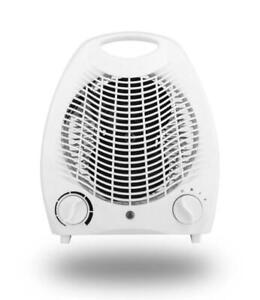 2KW Electric Flat Blow Fan Heater 2 Heat Settings Cool Hot Warm Air Silent Run