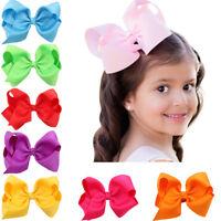 Lovely Big Bow Solid Hair Clip Hairpins Headwear Headdress Gift For Kid Children