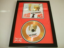 ROD STEWART   SIGNED  GOLD CD  DISC  112