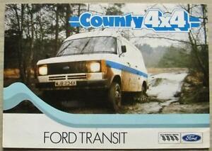 FORD TRANSIT COUNTY 4 x 4 Van Sales Brochure c1982