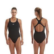 Speedo Badeanzug Schwimmanzug Damen Frauen Endurance+ medalist schwarz Bademode