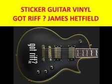GOT RIFF ? WHITE STICKERS VINYL GUITAR JH VISIT OUR STORE WITH MANY MORE MODELS