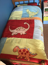 Next Childrens Colourful Dinosaur Single Duvet Bedding Set 1 (Red, Blue, Green)
