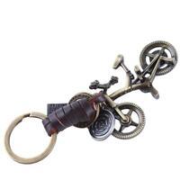 1 PC Creative Bike Bicycle Keychain PU Leather Keyring Key Chain HS3