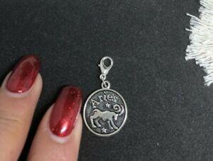 Aries Zodiac 17 mm Tibetan silver Good Luck Clip on Charm Au stock Clearance!