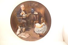 Vintage Edwin Knowles Collector Plate Bradex Norman Rockwell Storyteller