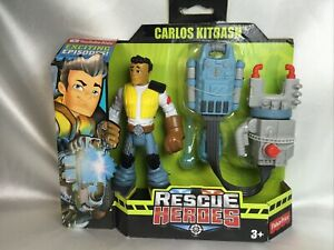 Fisher-Price Rescue Heroes Carlos Kitbash Cadet Action Figure + Accesories