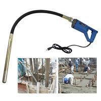 800W Electric Concrete Vibrator Construction Tool Air Bubble Remover 1.2m Hose