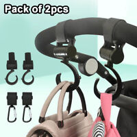 2Pcs Baby Stroller Pushchair Pram Mommy Hanger Clip Hooks Stroller Accessories