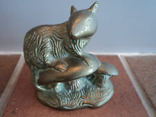 Vintage Brass Cast Mouse Desk Top Display/Paperweight - Lovely Item.