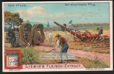 Antique Cable Electric Farm Plow Field Charrue Pflug c1903 Trade Ad Card g