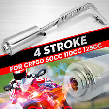 Chrome Exhaust Pipe System Muffler 4 Stroke For CFR50 Pit Bike 50/110/125cc