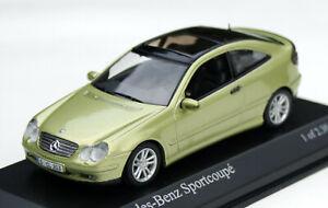 Mercedes Sportcoupé CL 203 Bj. 2000-2004, Light-Green, MINICHAMPS M.1 :