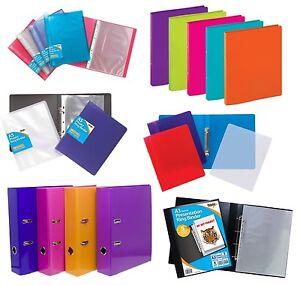 RING BINDER A5 A4 A3 Paper Storage 2/4 Presentation Display Files Folders{Tiger}