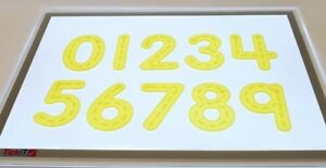 Silishapes Trace Numbers Yellow Silicone Counting Numeracy Educational Kids