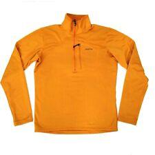 Patagonia Men's Size S  Regulator R1 Waffle Fleece 1/4 Zip Orange Pullover