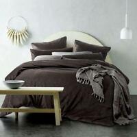 Vintage Design Chocolate Cotton Velvet Quilt Cover Set