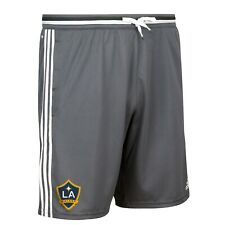 LA Galaxy MLS Adidas Men's Dark Grey Training Shorts w/ Pockets