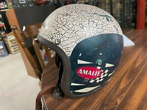 Vintage Early Bell TX Helmet nice  age look as it had been used racing