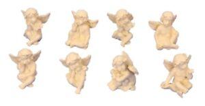 8 verschiedene kleine Engel Figuren je 3 cm Engelfigur Tischdekoration Hochzeit