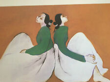 """RC GORMAN SIGNED Posters, """"TWINS"""" 1998 Size  26"""" X 30"""""""