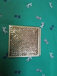 Vintage Mesh Style Compact Mirror 1980's