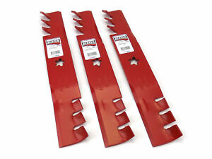"""(3) Reaper 48"""" Toothed Mulching Blades for Husqvarna 532173921 Made in USA"""