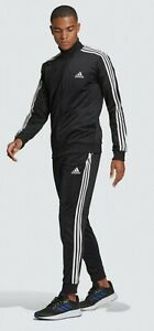 Adidas ESSENTIALS 3-STRIPES Tracksuit BLACK & WHITE Classic Original-