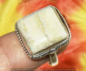 """Natural Agate Gemstone Handmade Ring 925 Silver Plated Us Size 9"""" U372-G158"""