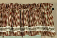 "Country BURGUNDY BERRY VINE Cotton Window Valance 72"" x 14"""
