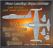 1/32 T-33 Canada RCAF / CAF semi gloss gray decal set by Leading Edge Models