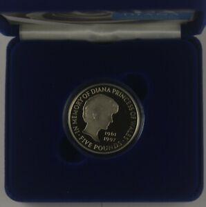 UK 1999 DIANA PRINCESS OF WALES MEMORIAL £5 SILVER PROOF CROWN - boxed/coa/slip