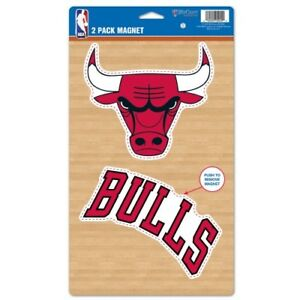 CHICAGO BULLS 2 PACK OF VINYL DIE-CUT MAGNETS HIGH QUALITY HEAVY DUTY