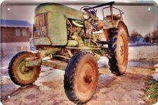 Reklame Blechschild 20x30 Fendt Traktor Modell Dieselross Oldtimer Retro Design