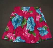 HOLLISTER PINK BLUE FLORAL MINI SKIRT WOMEN'S SIZE MEDIUM NEW WITH TAGS