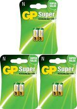 6 x GP® 910A LR1 N 1.5V Super Alkaline Battery MN21, A23, LRV08 Expiry 2022
