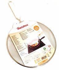 Metaltex 21cm Splatter Screen - Kitchen Pan Frying Splash Cover Handle Anti Oil