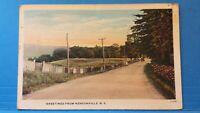 Hensonville, NY, 1939 Greetimgs vintage PC Postcard