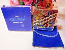 1985 Avon Odyssey  beauty mirror compact. New in pouch and original box.